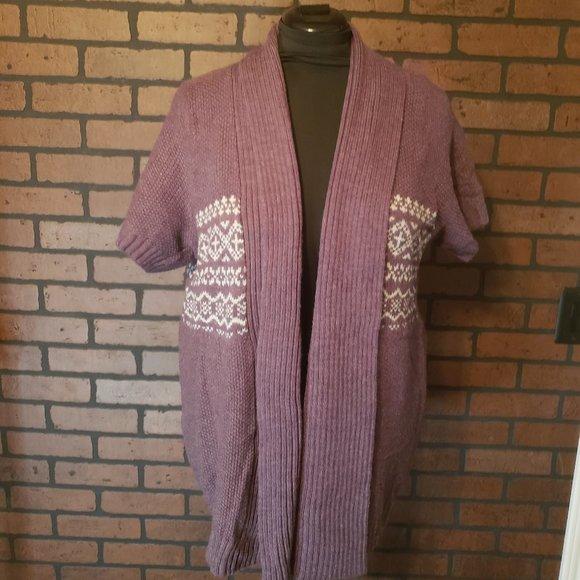 Sonoma Short Sleeve Sweater Jacket/Vest